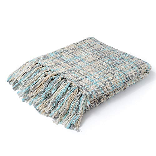 CUDDLE DREAMS Exclusive Throw Blanket for Sofa & Home Decoration (Multi Blue)