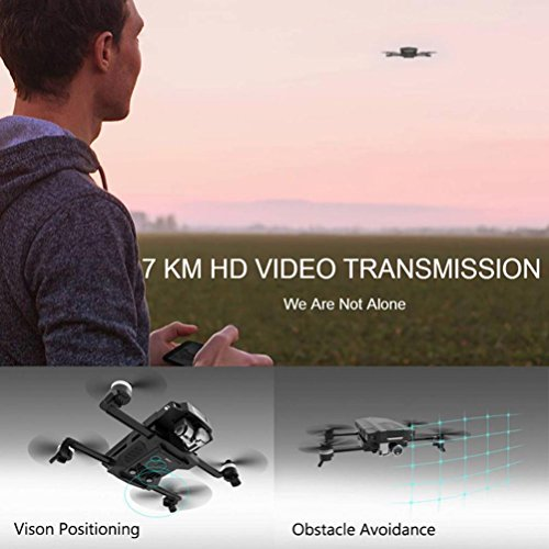 Inverlee GDU O2 Drone FPV Folding Quadcopter with 4K HD Camera GPS & GLONASS Avoidance (Black) by Inverlee