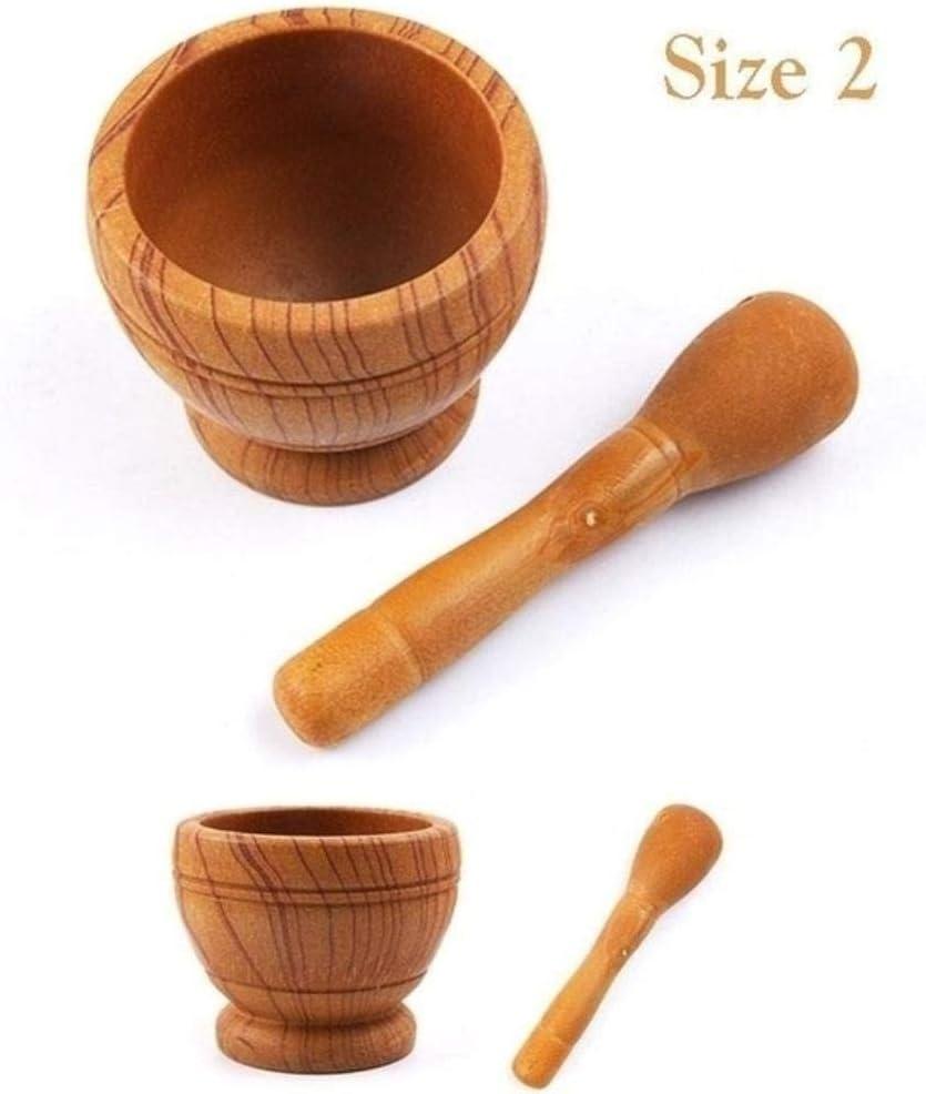 DGDS Harz Mörser Stößel Set Knoblauch Kräuter Gewürz Mischen Mahlen Brecher Schüssel Küchenwerkzeug, size4 Size1