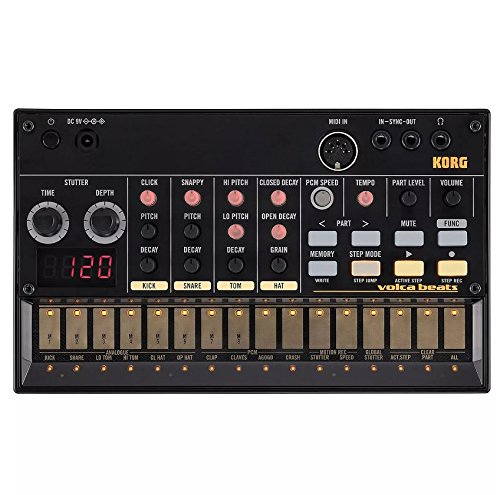 Korg Volca Beats Analogue Rhythm Machine and Korg 9V600MACPP 9v 600ma Power Supply by Korg