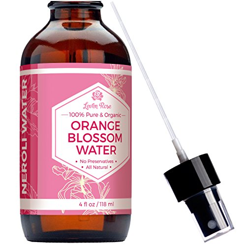 Orange Blossom Citrus Perfume (Orange Blossom Water Toner by Leven Rose - 100% ORGANIC, Natural for Clear Skin, Restoring PH, and Breakouts - Neroli Water)
