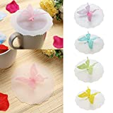 JD Million shop Wholesale Butterfly Silicone Cup Lids Anti-dust Leakproof Cup Cover kitchen gadgets kitchen accessories
