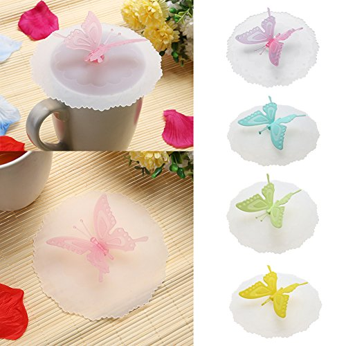 JD Million shop Wholesale Butterfly Silicone Cup Lids Anti-dust Leakproof Cup Cover kitchen gadgets kitchen - Box Oakley Bag Ski
