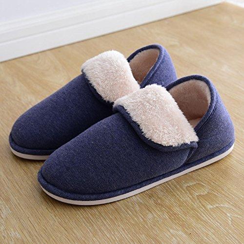 Ymfie Uomini Felpato Inverno Ispessimento Scarpe D E skid Cotone Arredamento Pantofole Caldo Donne Anti Casa UgrpU