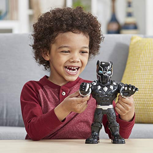"Playskool Heroes Marvel Super Hero Adventures Mega Mighties Black Panther Collectible 10"" Action Figure, Toys for Kids Ages 3 & Up"