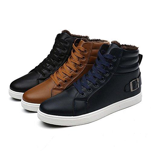 Marrone Inverno Da Velluto Natale Uomo Sportive Outdoor Caldo Shoes Sneakers Regalo Boots Ankle Waterproof Oyedens Corsa Antiscivolo Ispessimento Stivali Scarpe qIHw48x8Y
