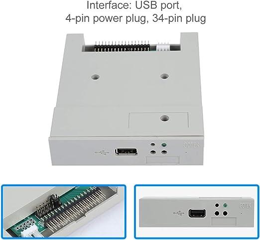 Mugast USB Diskettenlaufwerk Emulator,3.5 Zoll 1,44 MB USB Floppy Disk Drive Sicherheitsschutz,Floppy Laufwerk Emulator 34 Pin Simulation ...