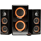 Arion Legacy AC Powered 2.1 Speaker System with Dual Subwoofers and Wired Control Pod for Multiple Devices 100W Piano Black (AR506) (Personal Computers)