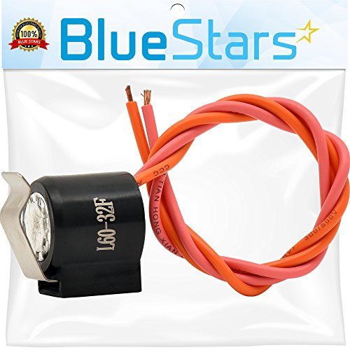 WR50X122 Refrigerator Defrost Thermostat Replacement by Blue Stars - Exact Fit for General Electric Kenmore Hotpoint fridges - Replaces PS303471, AP2071262, WR50X0128