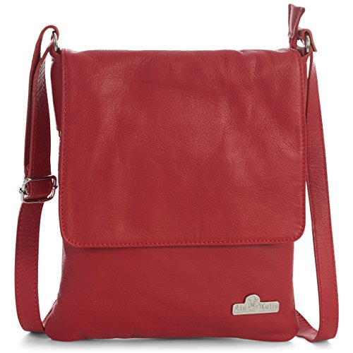 crossbody de con suave mujer Tamaño piel para Rojo protectora Bolso hombro medio de LiaTalia bolsa AMBER qt4wHax
