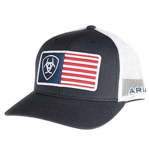 ARIAT Men's Shield Flag Center Patch Mesh Cap, Blue, One Size