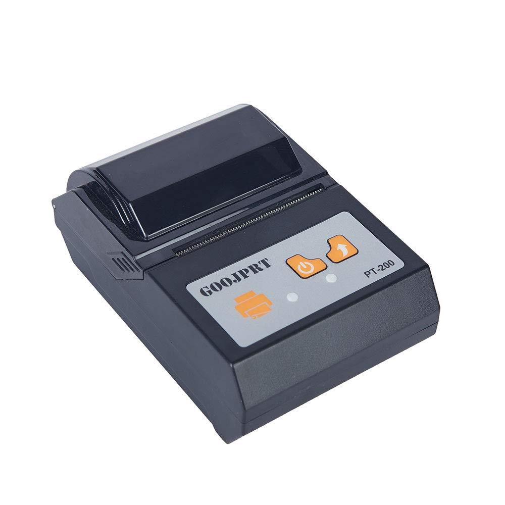 TOPmountain Wireless Bluetooth Receipt Thermal Printer 58mm Mini Portable Receipt Barcode Bills Print Portable Handheld Mini Receipt Printer