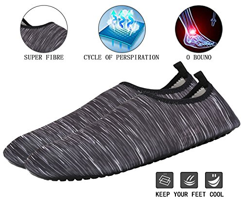 Womens Exercise and Water Mens Grey For Socks Shoes Quick Zone Men Yoga Slip Barefoot On Surf For Aqua Dry Yoga Kids Fantastic Beach Sports Women Swim 5SEwpqq