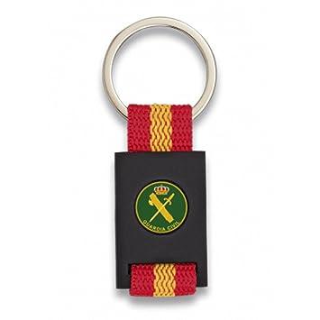 Albainox Llavero Bandera DE ESPAÑA Y Emblema Guardia Civil, Negro
