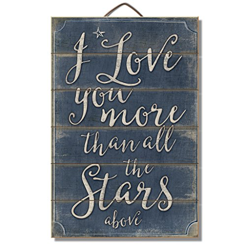 Moon Wood Sign (Highland Graphics I Love You More than all the Stars Above 12