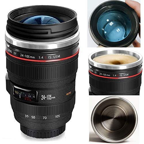 Bestic Camera Lens Coffee Mug/Cup~ The Latest Style Travel Mugs 100% Leak Proof~ Insulation Cup Works Great for Ice Drink,Hot Beverage~ Novelty Gifts Travel Thermos Cup for Outdoor Activities by Bestic