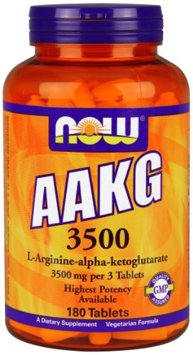 NOW AAKG 3500, 180 Tablets