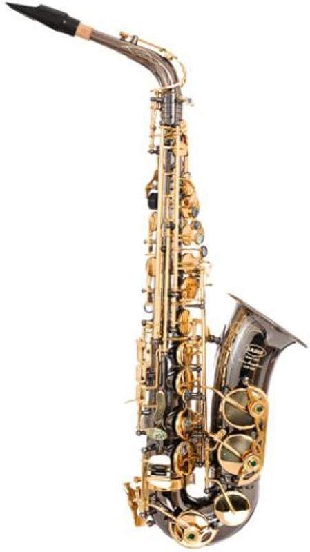 Kaiyitong001 サクソフォン、E-flat Alto Saxophone、ブラックニッケルゴールド初心者試験Professional Playing Instrument,持ち運びが簡単 (Size : 66cm)