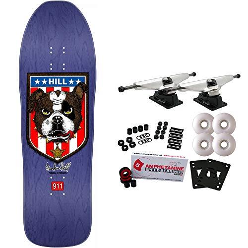 Powell-Peralta Skateboard Complete Frankie Hill Bulldog Purp Re-Issue Old School (Slayer Skateboard Deck)