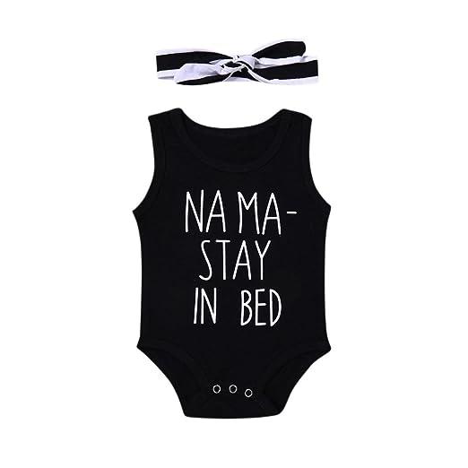 4751b93bf74a Amazon.com  KONFA Toddler Infant Baby Boys Girls Letter Romper+ ...