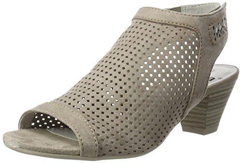 Jana Damen 28306 Offene Sandalen mit Keilabsatz Beige (LT. TAUPE 347)