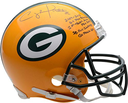 Clay Matthews Green Bay Packers Autographed Riddell Authentic Pro-Line Helmet with Multiple Inscriptions - Limited Edition of 12 - Fanatics Authentic Certified ()