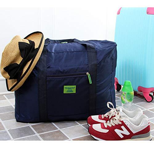 Pliable Pour bleu De 1pcs Sac Nylon Portable Bagages Sports Foncé Léger Travel Grand Ogquaton Rangement FX8vq6