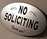 Best No Soliciting Signs - No Soliciting Sign - choose color - Laser Review