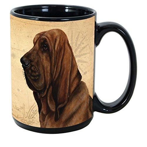 Imprints Plus Dog Breeds (A-D) Bloodhound 15-oz Coffee Mug Bundle with Non-Negotiable K-Nine Cash (bloodhound 024)
