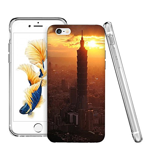 Thwo M84009_101 Taipei Financial Center Sunset Skyline HD Wallpaper phone case for iphone 6/6s plus