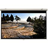 """Sima XL-92MS 92"""" Manual Pull-Down Projection Screen 16:9 Format with Dual Viewing Surfaces - Wall or Ceiling Mount"""