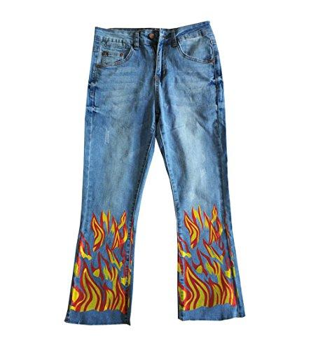 DaBag Donna Jeans Stampate Pantalone Matita Pantaloni Denim Jeans Stretch Skinny Pantaloni