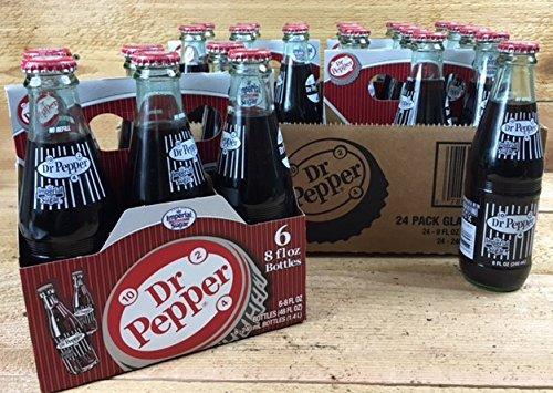 Original Dr. Pepper Made with Imperial Cane Sugar Reto. 4 - 6 Packs (24 - 8 Oz. Glass Bottles) (Not Dublin) 07833405