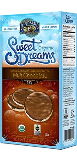 Lundberg Organic Gluten-Free Sweet Dreams Milk Chocolate Rice Cakes - Pack of 3, 3.17 Oz. Ea.