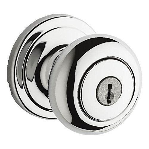 Kwikset 740H-26GC Hancock Entry Door Lock Bright Chrome Finish with New Chassis