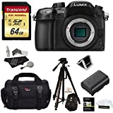Panasonic LUMIX DMC-GH4KBODY 16.05 MP Digital Single Lens Mirrorless Camera w/ 4K Cinematic Video Recording Body + 64GB U3 Card + Polaroid Tripod+ Polaroid Spare Battery + Ritz Gear Bag + Accessories