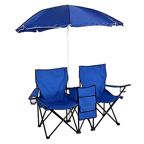 beach-camping-chairs-double-folding-with-umbrella-table-cooler-fold-up-mint