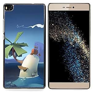 """For Huawei Ascend P8 (Not for P8 Lite) Case , Poli lindo Pc Sky Art Palma tropical Niños"""" - Diseño Patrón Teléfono Caso Cubierta Case Bumper Duro Protección Case Cover Funda"""