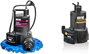 Wayne 57729-WYNP WAPC250 Pool Cover Pump & 57729-WYN1 EEAUP250 1/4 HP Automatic ON/OFF Electric Water Removal Pump