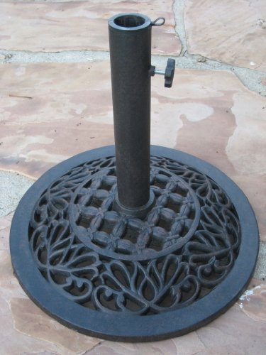 Liana Collection Umbrella Base 18'' Powder Coated 28 Lbs Wrought Iron Umbrella Base Cbm1290 by Umbrella and Base