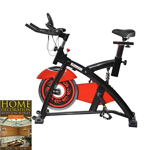 Exercise Bike Upright Home Stationary Trainer Indoor Cycling Cardio Fitness Burn Fat - House Deals