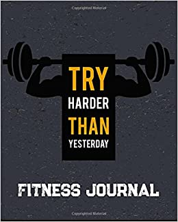 buy fitness journal workout exercise notebook with food planner