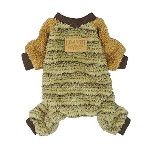 Fitwarm Pet Clothes for Dog Pajamas Coat Jumpsuit PJS Cat Apparel Velvet Brown