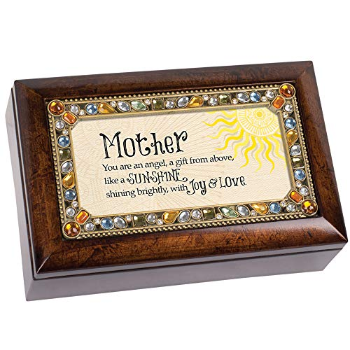 Cottage Garden Mother Angel Gift Sunshine Joy Amber Earth Tone Jewelry Music Box Plays You are My Sunshine