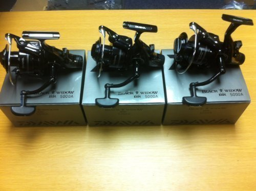 3 X Daiwa Black Widow 5000A Baitrunner/Freespool Reels Carp Pike Coarse...