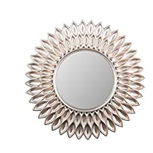 Wee's Beyond 2857-Champagne Sunflower Decorative Wall Mirror 24""