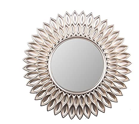 """Review Wee's Beyond 2857-Champagne Sunflower Decorative Wall Mirror 23.5"""""""
