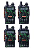 Baofeng UV-5R 5th Generation 136-174/400-520mHZ Two Way Radio Professional FM Transceiver(Camo,Pack of 4)