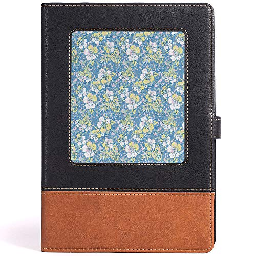 Refillable Leather Journal Writing Notebook Camouflage Leather Notebook for Drawing,Size 6.1x8.6 in,A5 ()