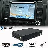 Stereo Bluetooth Handsfree A2DP USB SD AUX MP3 WMA CD Changer Adapter Interface Car Kit VW Volkswagen Beetle Golf Jetta Passat Polo Tiguan Touareg Touran